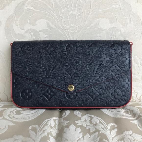a9aaf17b8e Bags   Louis Vuitton Pochette Felicie In Marine Rouge   Poshmark